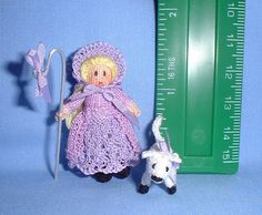 Little Bo Peep, knitted by Jill Rothwell .