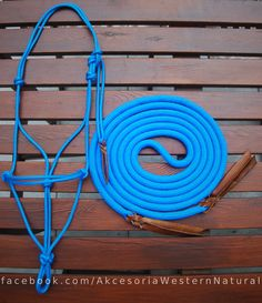 Rope halter with matching lead rope