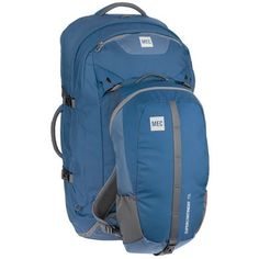 Supercontinent 75 Travel Pack: This full-sized backpack converts to a suitcase, for checking into respectable hotels and preventing your luggage from being mulched in a conveyor. Mountain Equipment, Long Way Home, North Face Backpack, Travel Packing, Backpacking, Europe, Explore, Free Shipping, Bags