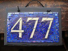 Custom Mosaic House Number 477 by Nutmeg Designs, via Flickr