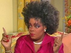Oprah's 80s hair....she'd flip if she saw this now! Lol!
