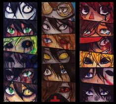 Creepypasta's eyes by servantofpsychotic