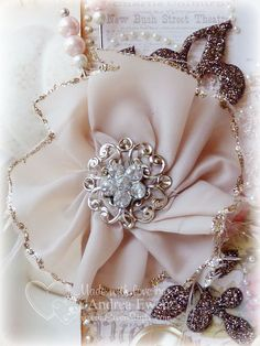 Shabby Chic Handmade Silk Flower Fabric Ribbon, Card Tags, Handmade Flowers, Silk Flowers, Handmade Cards, Shabby Chic, Crafting, Felt, Textiles