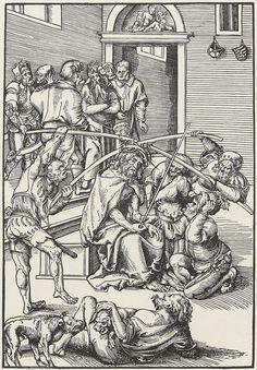 Artist: Cranach d. Ä., Lucas, Title: Folge zur »Passion Christi«, Dornenkrönung Christi, Date: 1509