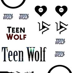 Teen Wolf - sticker set A