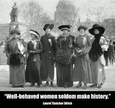 Suffragettes in 1913. Happy International Women's Day. (Fri-5-8-13)