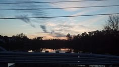 Sunset over Wake Cross Roads Lake in Raleigh, NC.