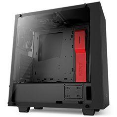 NZXT S340 Elite ATX Mid Tower Computer Case, Matte Black/Red (CA-S340W-B4) - https://www.buy-accessories.net/shop/computers-laptops/nzxt-s340-elite-atx-mid-tower-computer-case-matte-blackred-ca-s340w-b4/