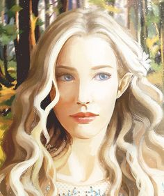 This is such a beautiful depiction of Celebrian! Perfect mix between Galadriel and Arwen!