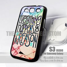 Crackout Everything happens Design for Samsung Galaxy S3 fit 9300