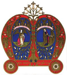 A W N Pugin. Monogram of Our Blessed Lady's Name, 1844.