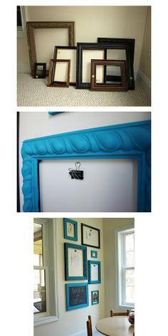 displaykidsart...don't bother backing the frames...just open frames with clips for hanging rotating art work!