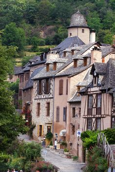 Conques Village, Known as One of the Most Beautiful Villages of France