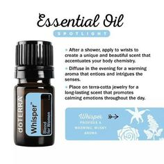 Whisper Blend for Women offers a warming aroma that entices and intrigues the senses. Learn more about Whisper in our latest blog post. Link in bio. #essentialoils #doterra #whisperessentialoil