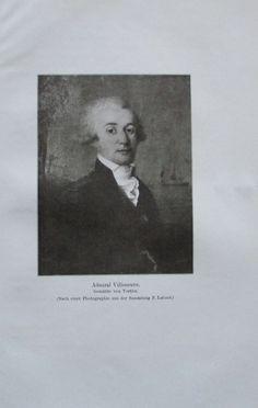 ADMIRAL VILLENEUVE 1914 Porträt Vertier alter Druck antique Print Lithographie