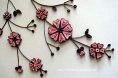 Quilled pink and black