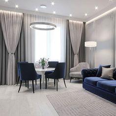 Enhance Your Senses With Luxury Home Decor Living Room Decor Cozy, Elegant Living Room, Home Living Room, Interior Design Living Room, Living Room Designs, Kitchen Living, Home Curtains, Curtains Living, Home Room Design