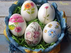 Decoupage, Easter Crafts, Food And Drink, Eggs, Recipes, Diy, Rustic Table Decorations, Diy And Crafts, Rustic Table