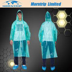 Reusable Adult Rain Hood Poncho Outdoor Camping Travel Drawstring Raincoat FA