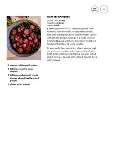 Collection n3 never thought to roast radishes, think it will be great