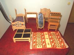 Dollhouse Miniatures Vintage Tomy Dollhouse Plastic End Table #10
