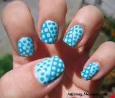 Blue and mint dots.