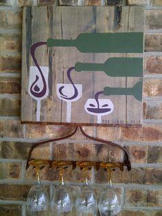 Repurposed Garden Rake Wine Glass Holder by TheUrbanDonkey on Etsy
