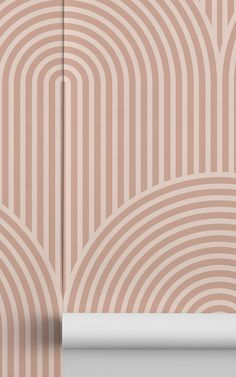 Introduce a cool geometric design into your space that will create an interesting feature wall, with the Nude Circuit Design Geometric Striped Repeat Pattern Wallpaper, a stylish design featuring complimentary soft nude tones. This modern wallpaper will introduce a fresh feel to your space, that can be styled in various ways to suit your desired theme. Striped Wallpaper, Modern Wallpaper, Pink Wallpaper, Colorful Wallpaper, Designer Wallpaper, Pattern Wallpaper, Pink Home Decor, Circuit Design, Pink Walls