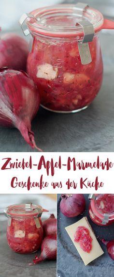 Rote Zwiebel Apfel Marmelade - DIY Geschenke aus der Küche - außergewöhnliche Marmeladen - Brotaufstrich
