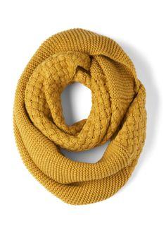 Circle scarf in mustard