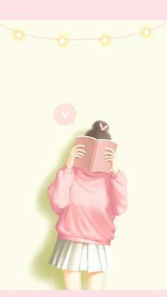 I'm reading a book about my life Anime Girl Cute, Beautiful Anime Girl, Anime Art Girl, Korean Illustration, Illustration Girl, Cute Girl Wallpaper, Kawaii Wallpaper, Teen Wallpaper, Cute Girl Drawing