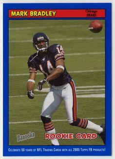 Mark Bradley # 203 - 2005 Topps Baz Football - Blue