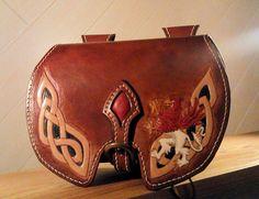 Escarcelle médiévale cuir : Sacs à main par artefac-cuir
