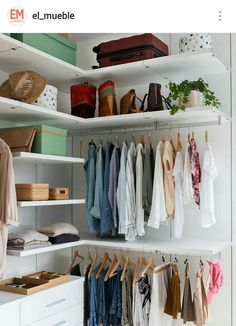 13 Creative Ways To Create a Wardrobe With Low Budget Corner closet in a white room Corner Closet, Closet Bedroom, Bedroom Decor, Tiny Closet, White Closet, Diy Wardrobe, Wardrobe Design, Perfect Wardrobe, Wardrobe Ideas