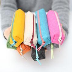 Colorful Felt Pencil Case