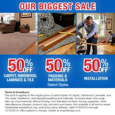 buy 1 room get 2 free on select styles of carpet hardwood tile