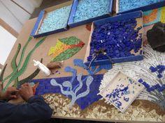 Arte Livre Mosaico: Descansos-Peixe
