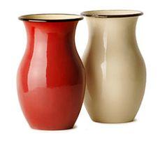 Emaille-Vasen aus Rumänien über okversand.com