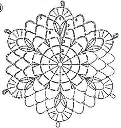 Crochet Shawl Diagram, Crochet Motif Patterns, Crochet Mandala, Crochet Chart, Crochet Squares, Crochet Doilies, Crochet Flowers, Knitting Stiches, Crochet Stitches