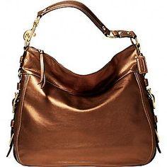 new Coach handbags online outlet , Bronze Coach handbag
