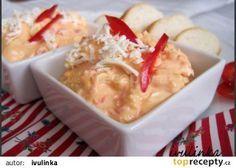Pomazánka s kapií a balkánským sýrem recept - TopRecepty.cz Mashed Potatoes, Pesto, Food And Drink, Pudding, Cheese, Ethnic Recipes, Desserts, Spreads, Fitness