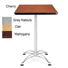 OFM Square Cafe Table With Chrome Base | Overstock.com Shopping   The Best  Prices
