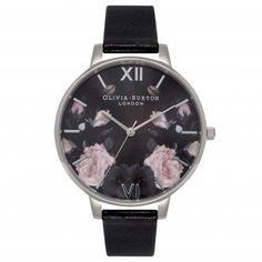 Dream watch.   Olivia Burton Enchanted Garden Black Mirror and Silver.   £80. http://www.oliviaburton.com/enchanted-garden-c31/enchanted-garden-black-mirror-silver-p329