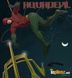 Daredevil and Aquaman mashup as Aquadevil | Marvel/DC superhero mashups