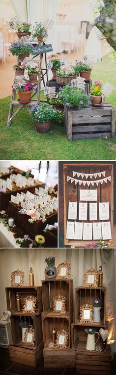 cajas de madera vintage en tu boda