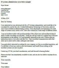 it systems administrator cover letter example. Resume Example. Resume CV Cover Letter