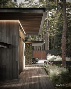 A garage is an obligatory object of a cottage outside the city so that the owners can comfortably get to their home.