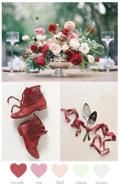 Color Palette: Marsala + Rose