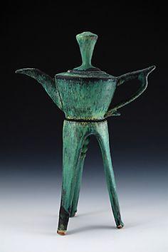 """Tripod Teapot"" Ceramic Teapot - STUDIO SALE Created by Daniel Slack One of a Kind"