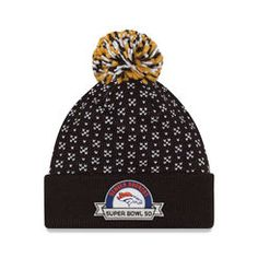 Denver Broncos New Era Women s Super Bowl 50 Bound Cuffed Knit Hat with Pom  - Black 1d7889646